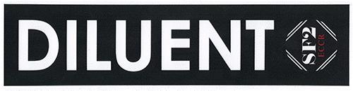 SF-2 Aufkleber / tank label DILUENT