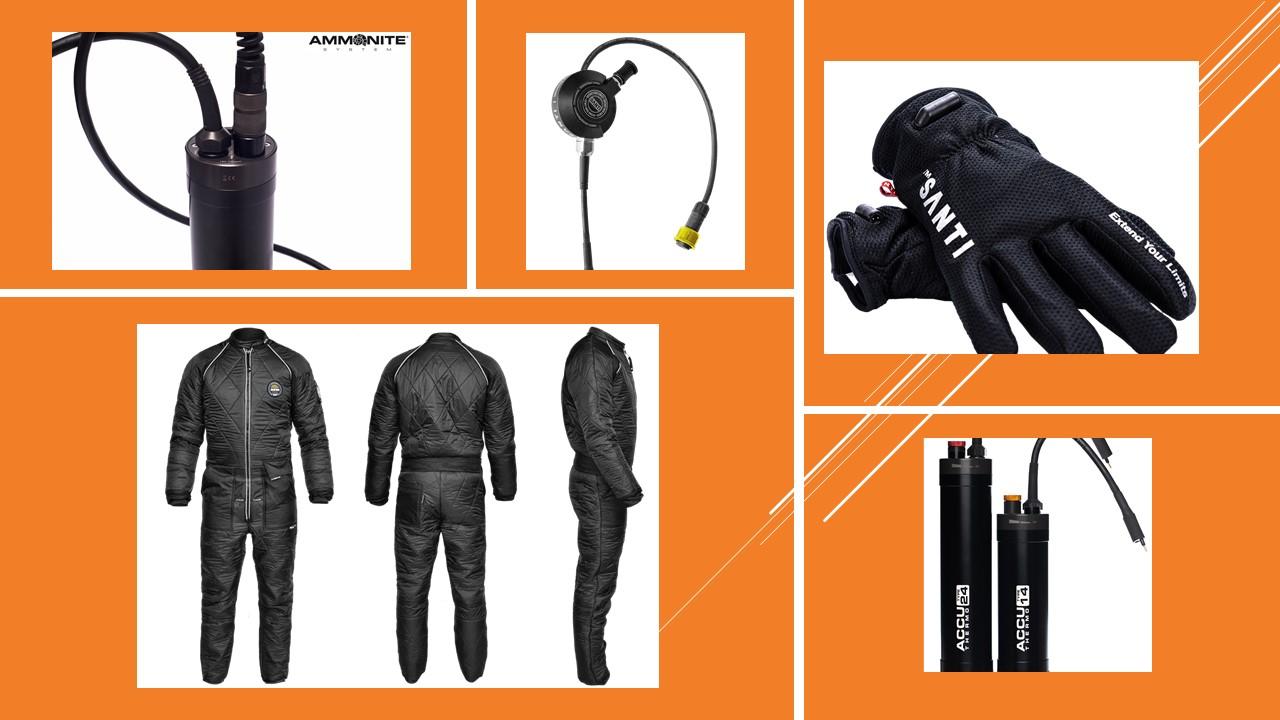 Wärmeset Extreme mit Santi  Heizunterzieher, Handschuhe,  Durchführung und Akku 24Ah