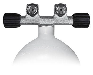 Stahlflasche 12 Liter lang / T-Ventil