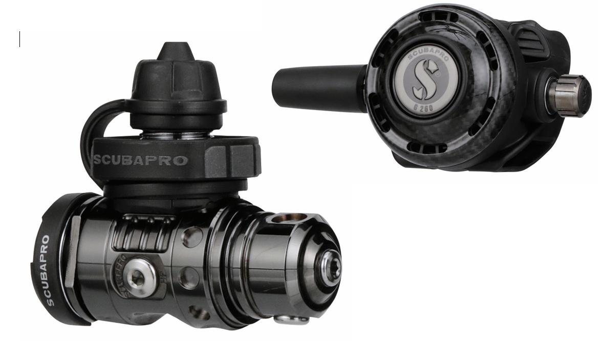 Scubapro MK19 EVO Black Tech mit G260 Carbon