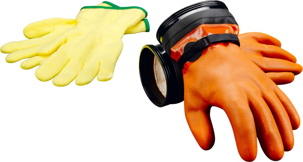 DUI ZIP Gloves Maximum Dexterity orange
